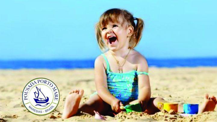 Dia das crianças na praia