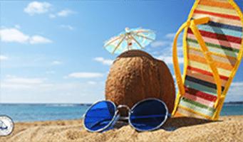 Sol, calor, férias! Isso tudo combina com praia.